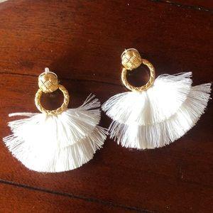 For Love and Lemons   Loop Fringe Earrings.